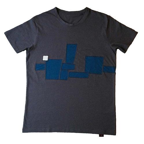 T-shirts Blue blocks L