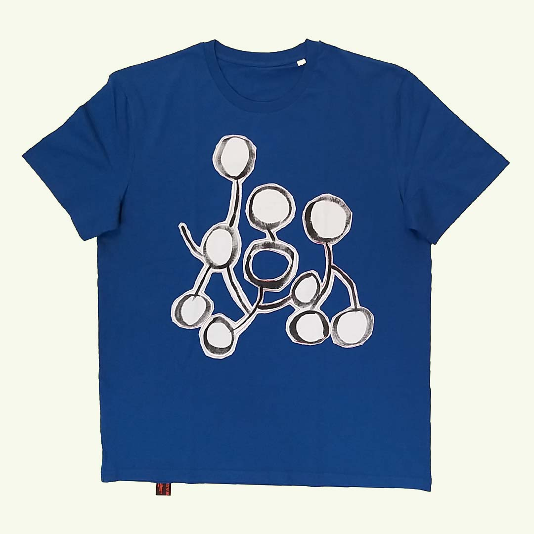 T-shirt blue The running draw !a