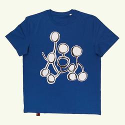 T-shirt blue The running draw !a