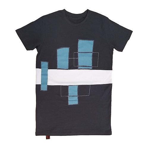 J-shirt Block the line blue blocks M