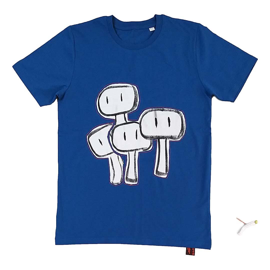 T-shirt blue kids tekenclub 1a