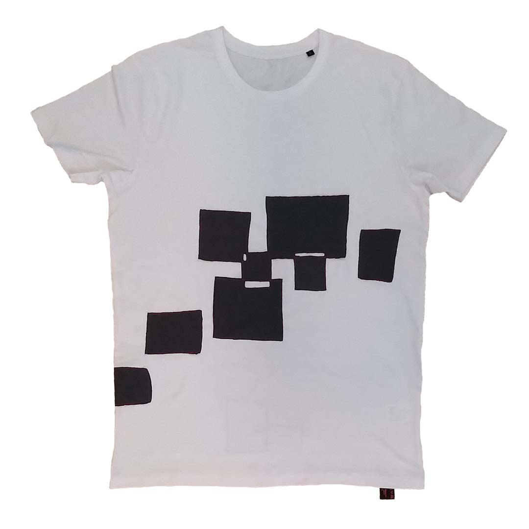 T-shirt wit L Flying Blox 1a