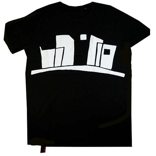 T-shirt Skyline misty sun in the city XL