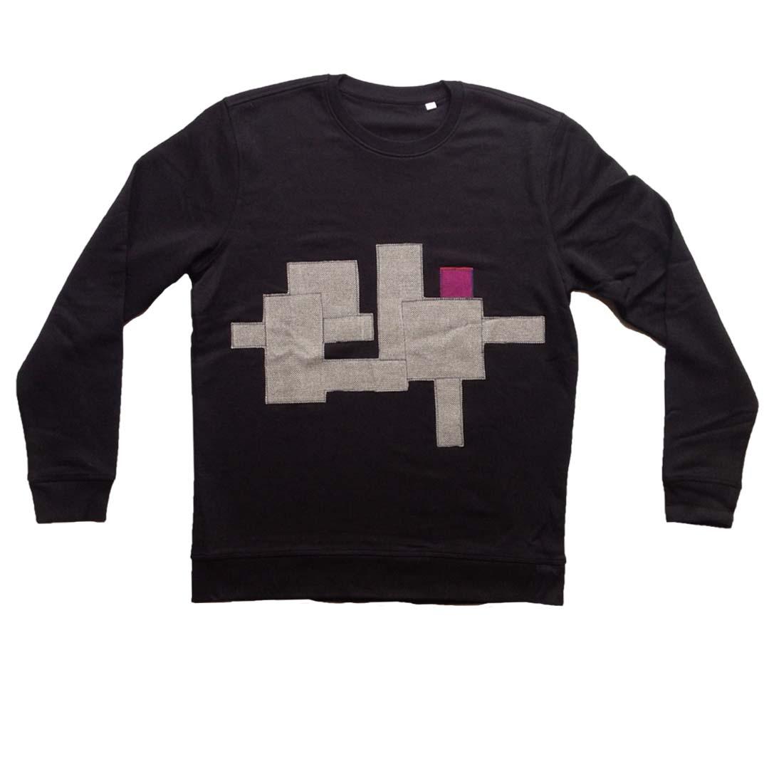 Sweater zwart Positive construction XL 1
