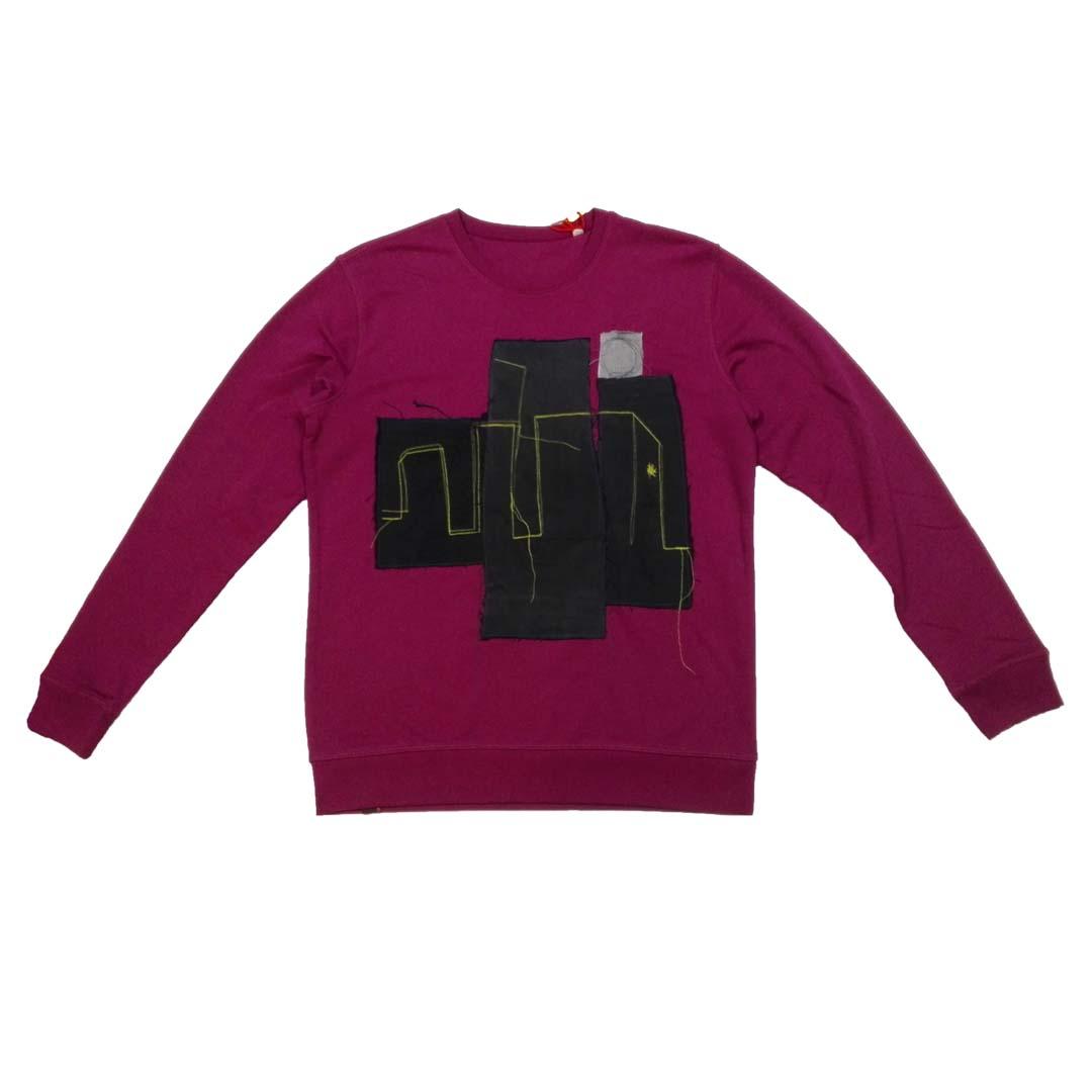 Sweater paars denim black town 1a