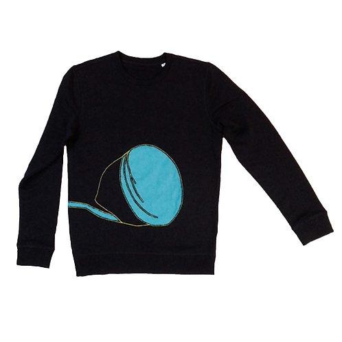 Sweater Blauwe citroen met snoer S