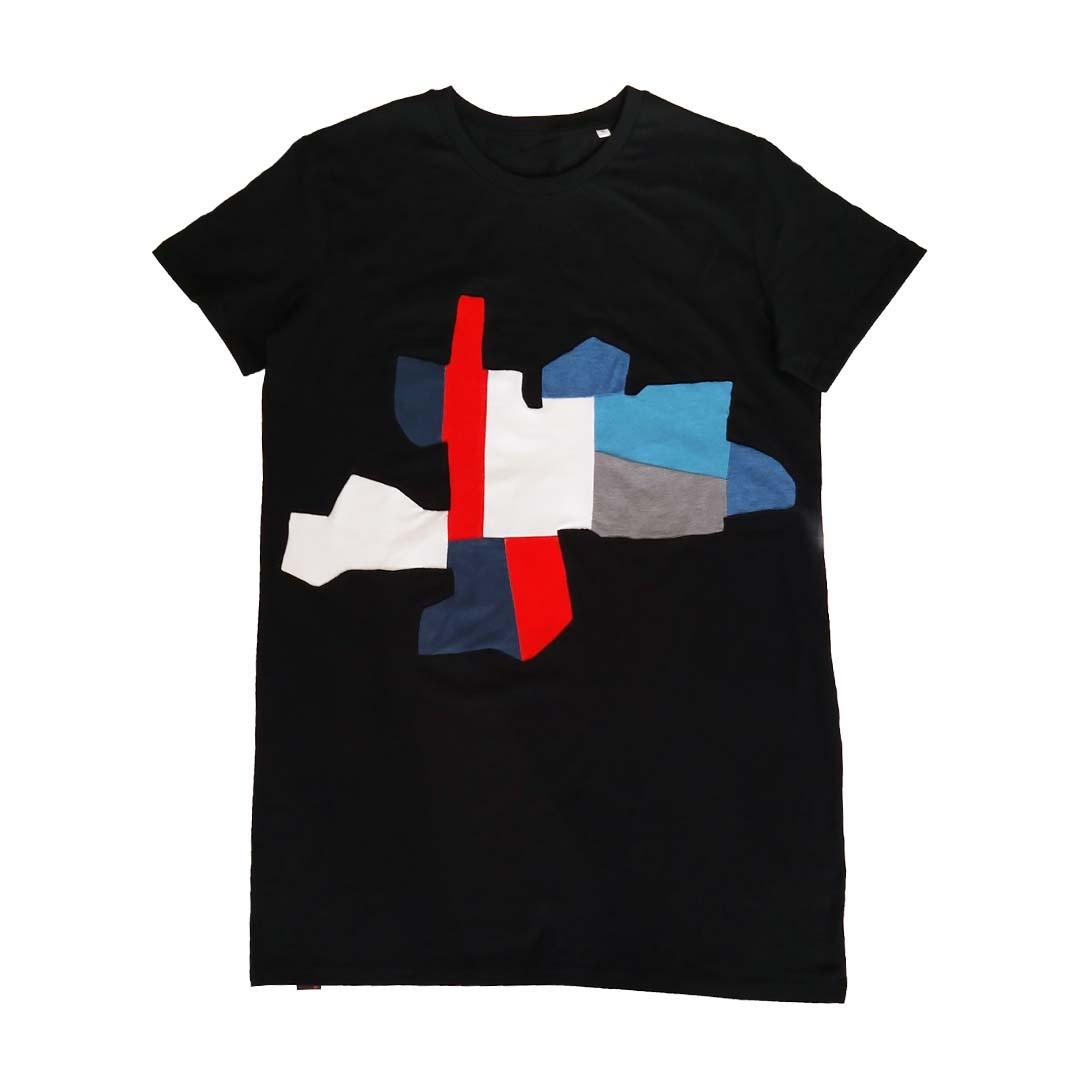 J shirt zwart Saint Tropez