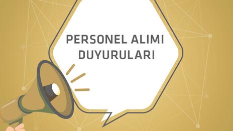 Personel alım ilanları