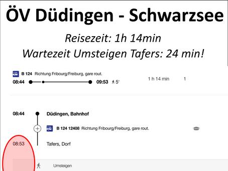Öffentlicher Verkehr in Düdingen