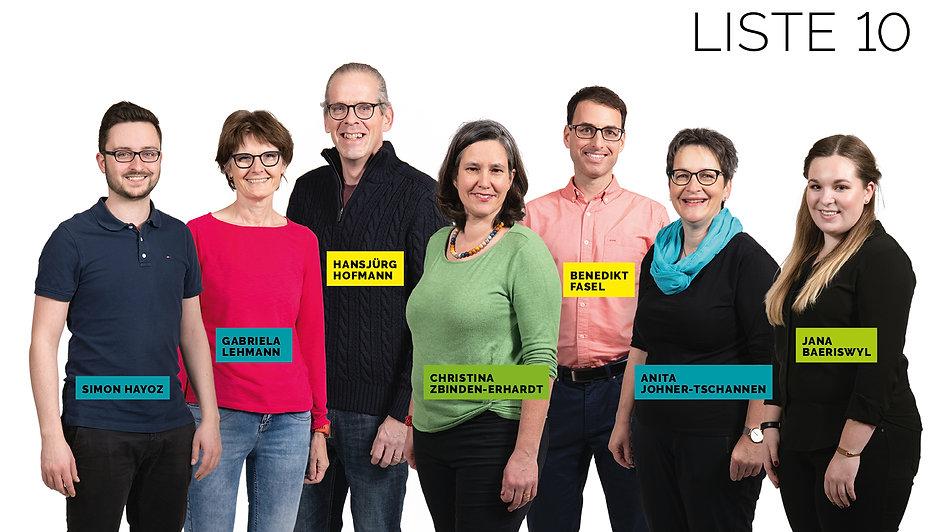 Gruppenbild Gemeinderatskandidaten Liste 10 - Gemeinsam Vorwärts