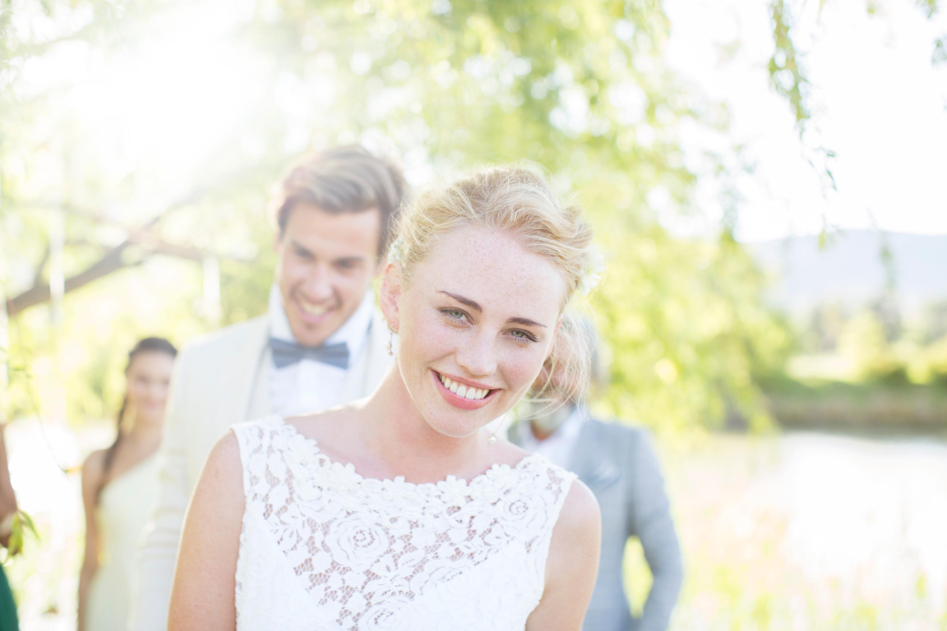 Mariée de sourire