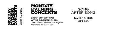 Monday Evening Concerts Los Angeles March 16, 2015