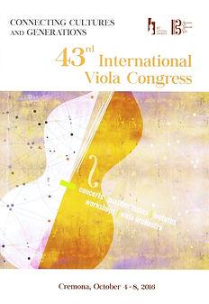 Cremona 43rd International Viola Congress 2016