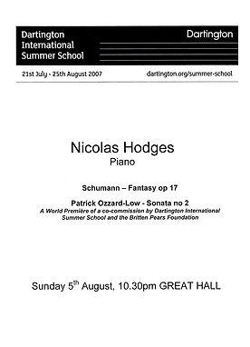 Sonata No 2 Premiere Hodges Notes Cover