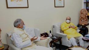 CM भूपेश बघेल ने गृहमंत्री अमित शाह से मुलाकात कर छत्तीसगढ़ से जुड़े मुददो पर की चर्चा |