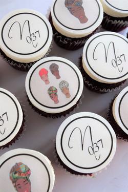 Custom Logo Cupcakes