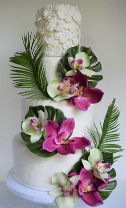 Tropical Themed Wedding Cake