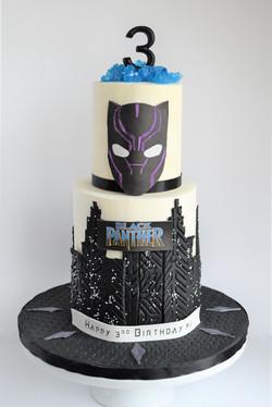Black Panther Themed Birthday Cake