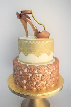 50th Birthday Stiletto Heel Cake