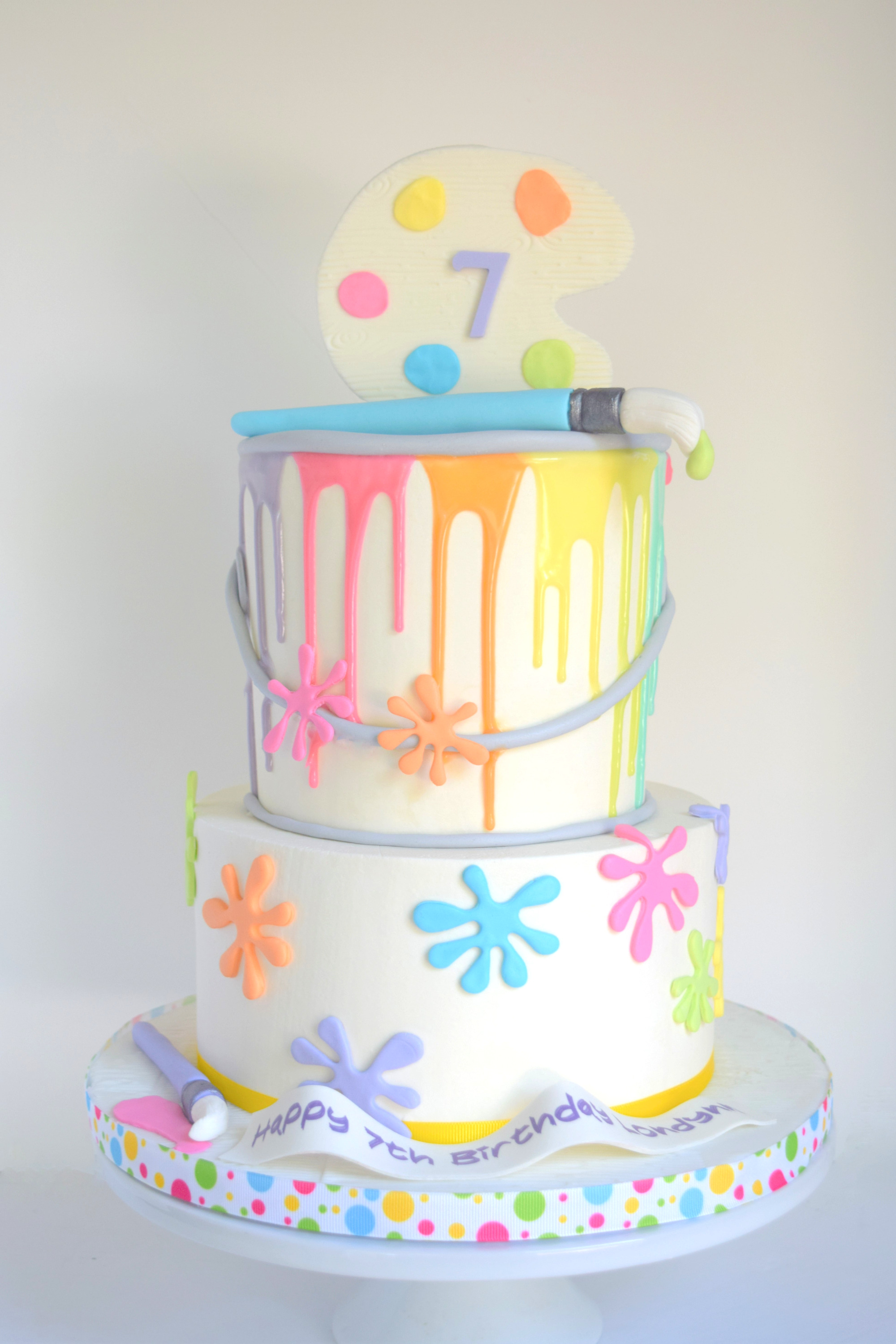 Paint Themed Birthday Cake
