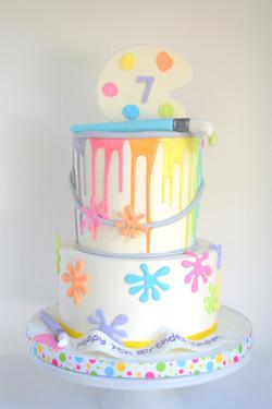 Paint Themed Birthday Cake