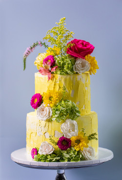 Rustic Spring Themed Cake