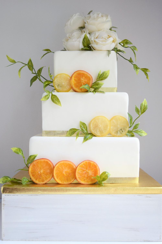 Summer Citrus Themed Cake
