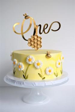 Bee Themed Smash Cake