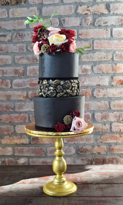 Black and Gold Themed Cake