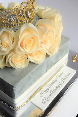 Queen Themed Birthday Cake