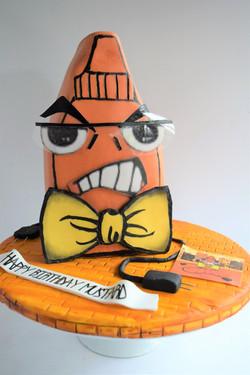 Custom Logo Birthday Cake
