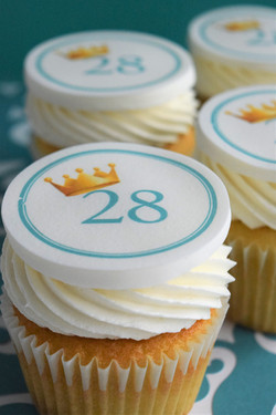 28th Birthday Themed Cupcakes