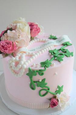 AKA Themed Birthday Cake