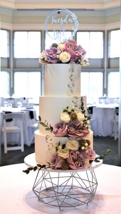 Floral Themed Wedding Cake