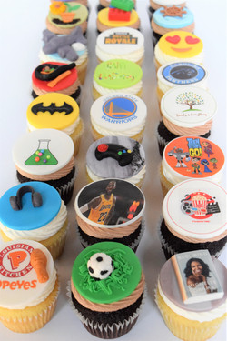 Favorite Things Themed Cupcakes