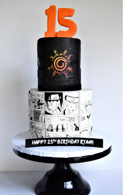 Naruto Themed Birthday Cake