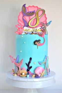 Mermaid Themed Birthday Cake