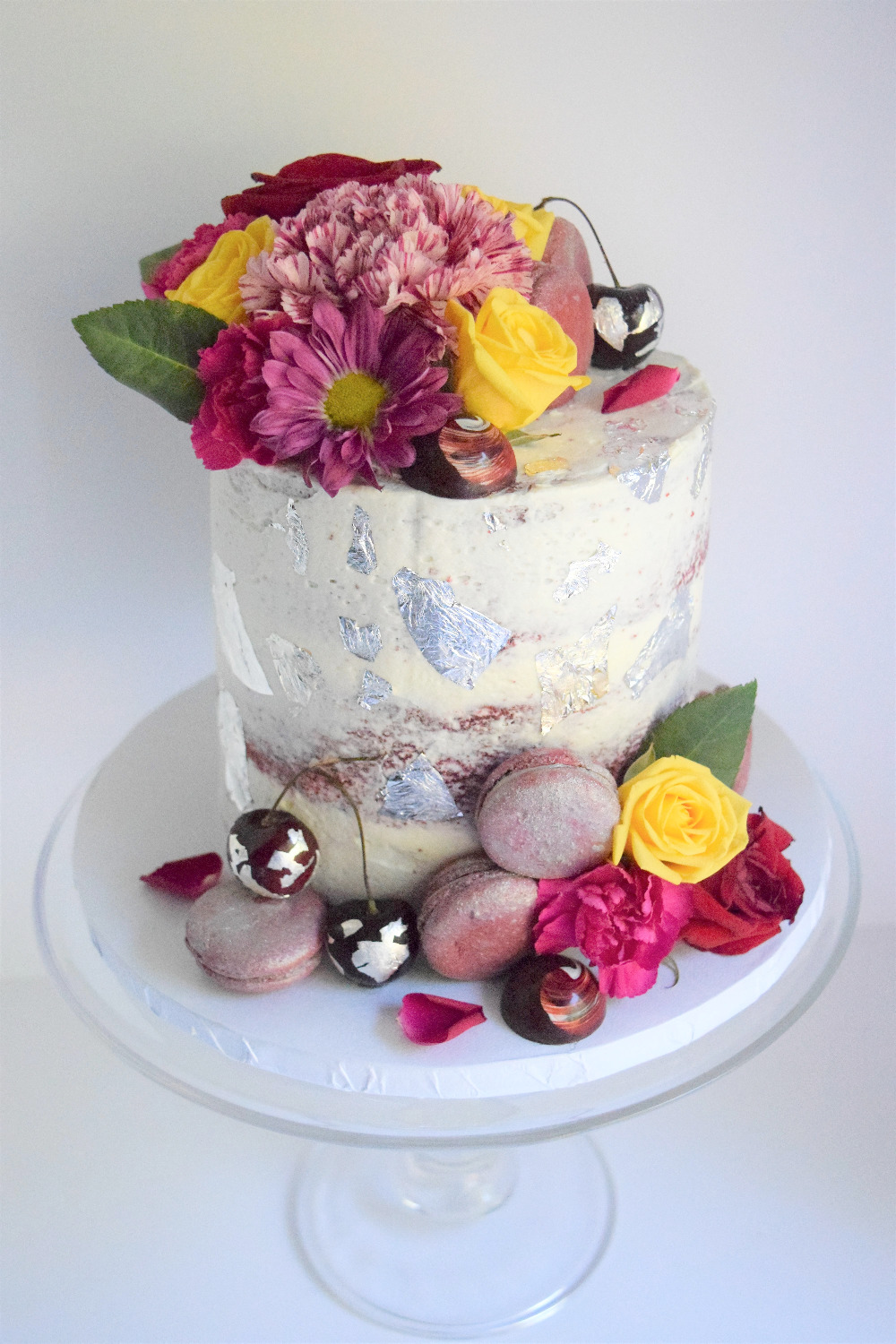 Floral Themed Birthday Cake