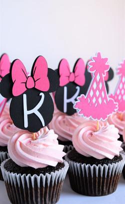 Custom Minnie Mouse Cupcakes