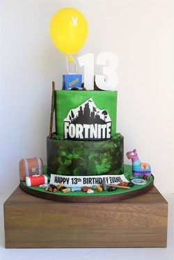 Fortnite Themed Birthday Cake