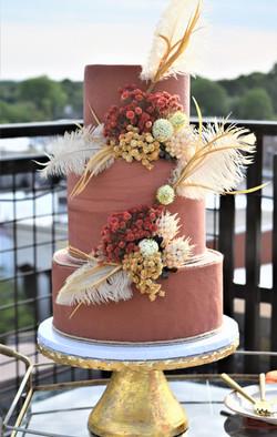Bohemian Themed Wedding Cake