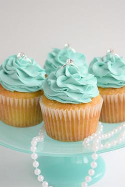 Tiffany Themed Bridal Shower Cupcake