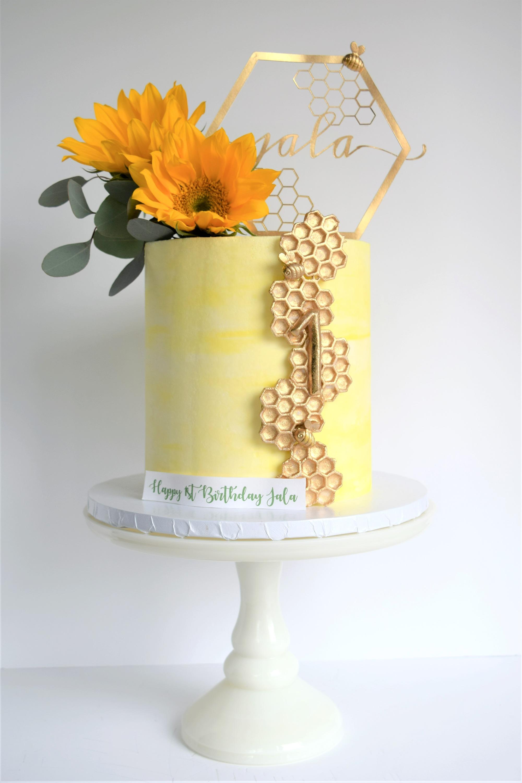 Bee Themed Birthday Cake