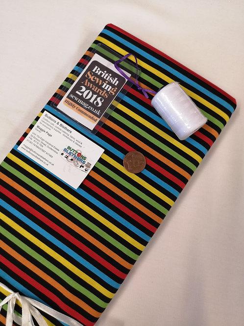 Multicoloured strips. 100% cotton
