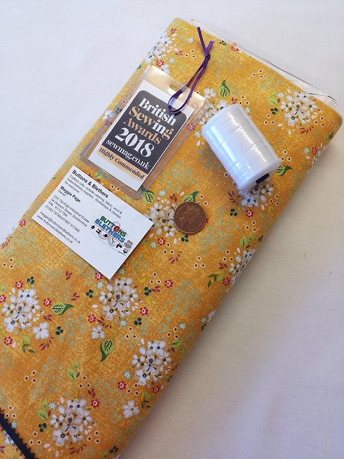 100% cotton yellow daisy