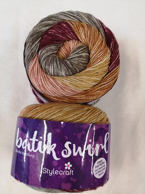 Batik swirl wool - price per ball