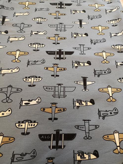 FABRIC OF THE WEEK 100% cotton jersey. Aeroplane design