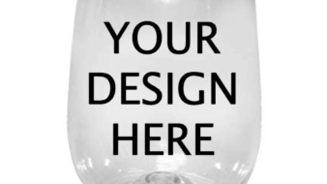 Custom Plastic Stemless Wine Glass