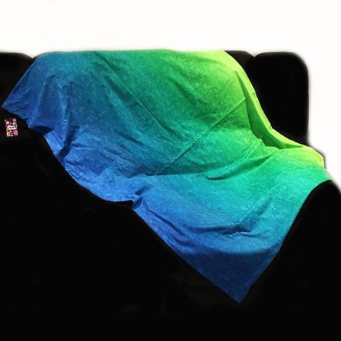 'Ocean Ombre' Weighted Blanket // 1.5m x 90cm // 100% Cotton