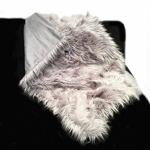 'Grey Shag' Weighted Blanket / 1.8m x 1.1m